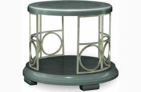 Tower Suite Moonstone Round End Table
