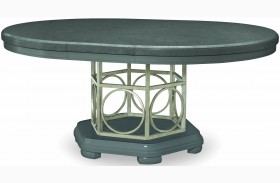 Tower Suite Moonstone Extendable Round Pedestal Dining Table