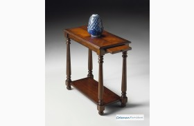 Plantation Cherry Shelf Chairside Table