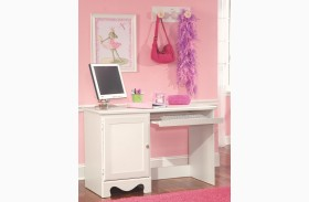 Spring Rose Soft White Student Desk