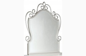 Spring Rose Soft White Metal Mirror