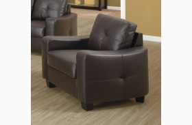 Jasmine Brown Bonded Leather Chair