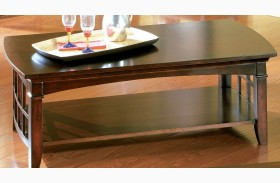 Glasgow Medium Sheen Dark Chocolate Cherry Rectangular Cocktail Table