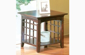 Glasgow Medium Sheen Dark Chocolate Cherry End Table