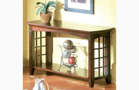 Glasgow Medium Sheen Dark Chocolate Cherry Sofa Table