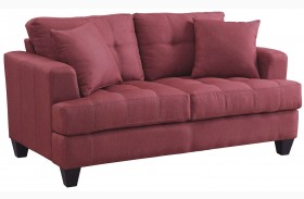 Samuel Red Loveseat