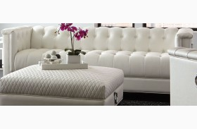 Chaviano Pearl White Tufted Sofa