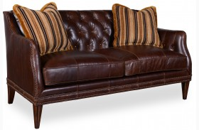 Kennedy Walnut Leather Settee