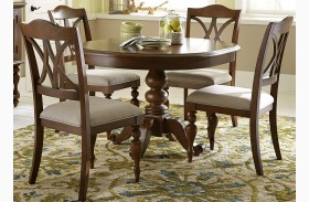 Summer House III Cherry Expandable Round Pedestal Table