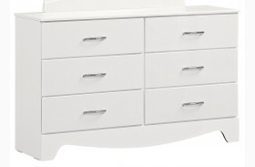 Vogue Glossy White 6 Drawer Dresser