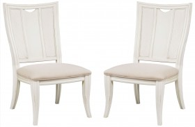 Siesta Sands White Sand Splat Back Side Chair Set Of 2