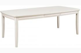 Siesta Sands White Sand Extendable Leg Dining Table