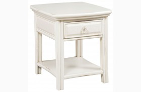 Siesta Sands White Sand End Table