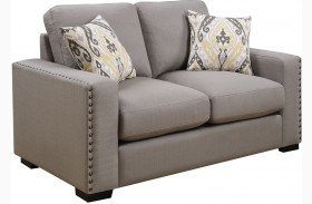 Rosanna Earthy Linen Loveseat by Donny Osmond