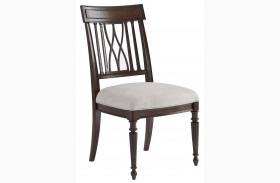 Villa Couture Mottled Walnut Lucca Side Chair