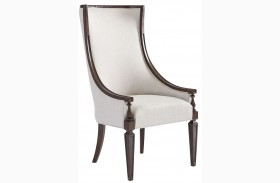 Villa Couture Mottled Walnut Matteo Host Chair