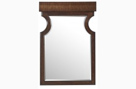 Villa Couture Mottled Walnut Dario Mirror