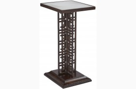 Villa Couture Mottled Walnut Veronica Table