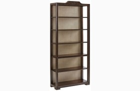 Villa Couture Mottled Walnut Viviana Bookcase