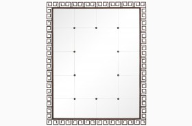 Villa Couture Antique Bronze Veronica Floor Mirror