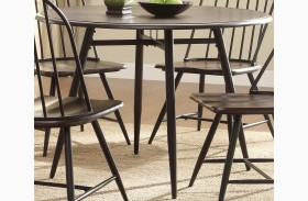 Hesperia Dark Brown Round Dining Table