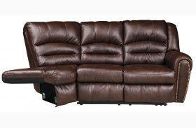 Manzanola Chocolate RAF Reclining Loveseat