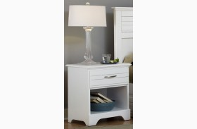 Platinum White Nightstand