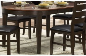 Grunwald Dark Brown Uv Coating Top Dining Table