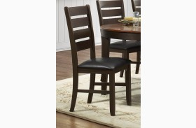 Grunwald Dark Brown Side Chair Set of 2