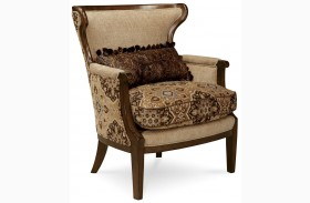 Ava Adele Wood Trim Accent Chair