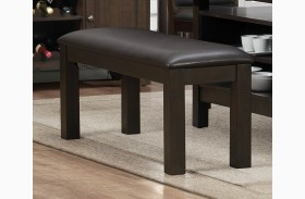 Corliss Dark Brown Bench