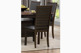 Corliss Dark Brown Side Chair Set of 2