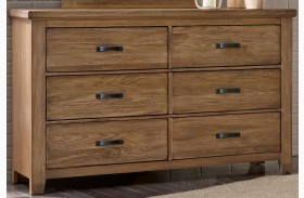 Gramercy Park Natural 6 Drawer Storage Dresser