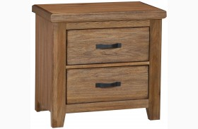 Gramercy Park Natural 2 Drawer Nightstand