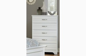 Platinum White 5 Drawer Chest