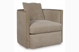 Wythe Sandstone Wood Trim Accent Chair