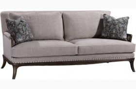 St Germain Siene Pewter Upholstered Sofa