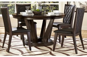 Villa Vista Dark Walnut Round Dining Table