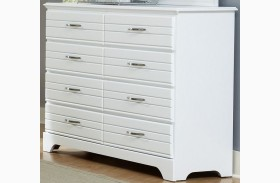 Platinum White Tall Dresser