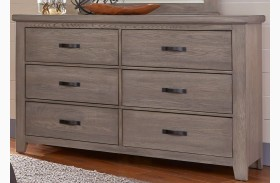 Gramercy Park Weathered Gray 6 Drawer Storage Dresser