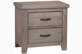 Gramercy Park Weathered Gray 2 Drawer Nightstand