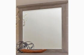 Gramercy Park Weathered Gray Landscape Mirror