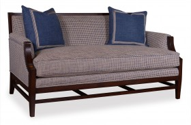 Bristol Linen Stretcher Base Settee