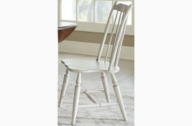 Oak Hill Tan Smoke & Antique White Windsor Back Side Chair Set of 2