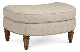 Collection One Linen Upholstered Christiansen Ottoman