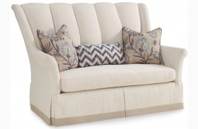 Collection One Upholstered Park Settee