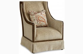 Palazzo Embossed Leather Accent Chair