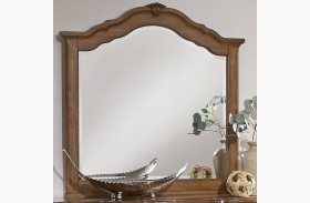 Villa Sophia Antique Cherry Shelter Mirror