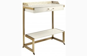 Coastal Living Oasis Saltbox White Catalina Bar Cart