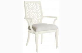 Coastal Living Oasis Saltbox White Catalina Arm Chair
